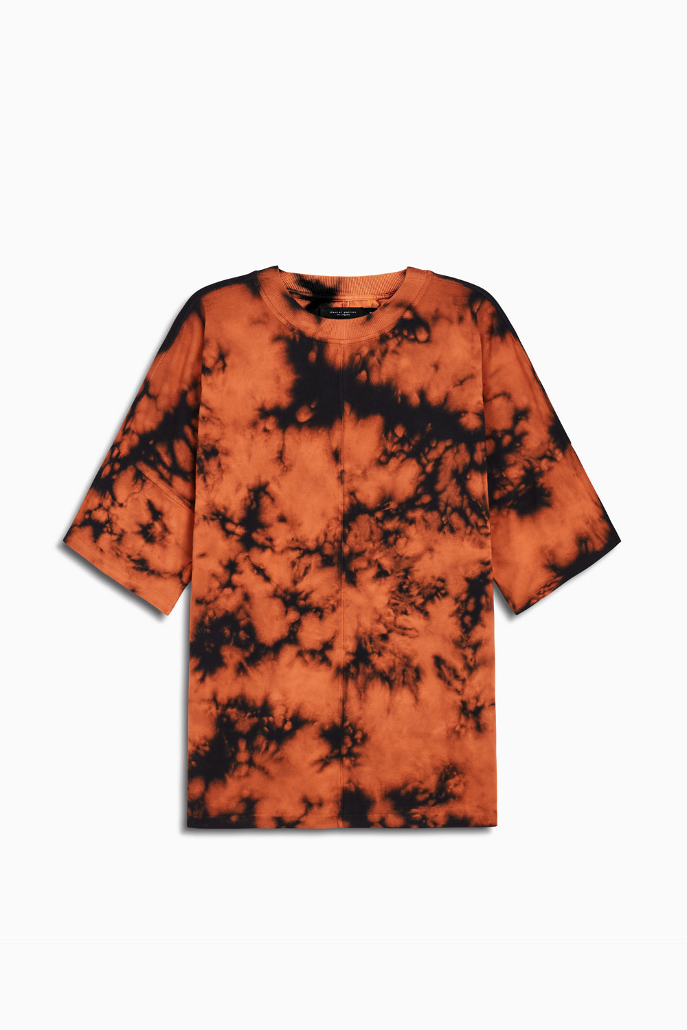 oversized box heavy tee in orange acid by daniel patrick