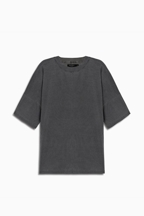 oversized box heavy tee in vintage black by daniel patrick