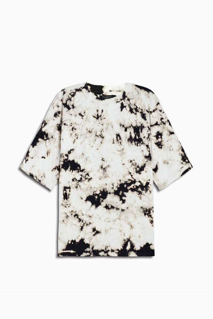 oversized box heavy tee in white acid by daniel patrick