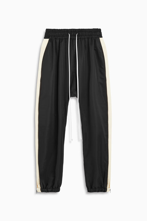 parachute track pant in black/natural by daniel patrick
