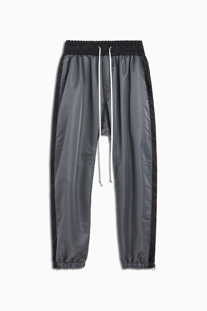 parachute track pant in pewter/black by daniel patrick