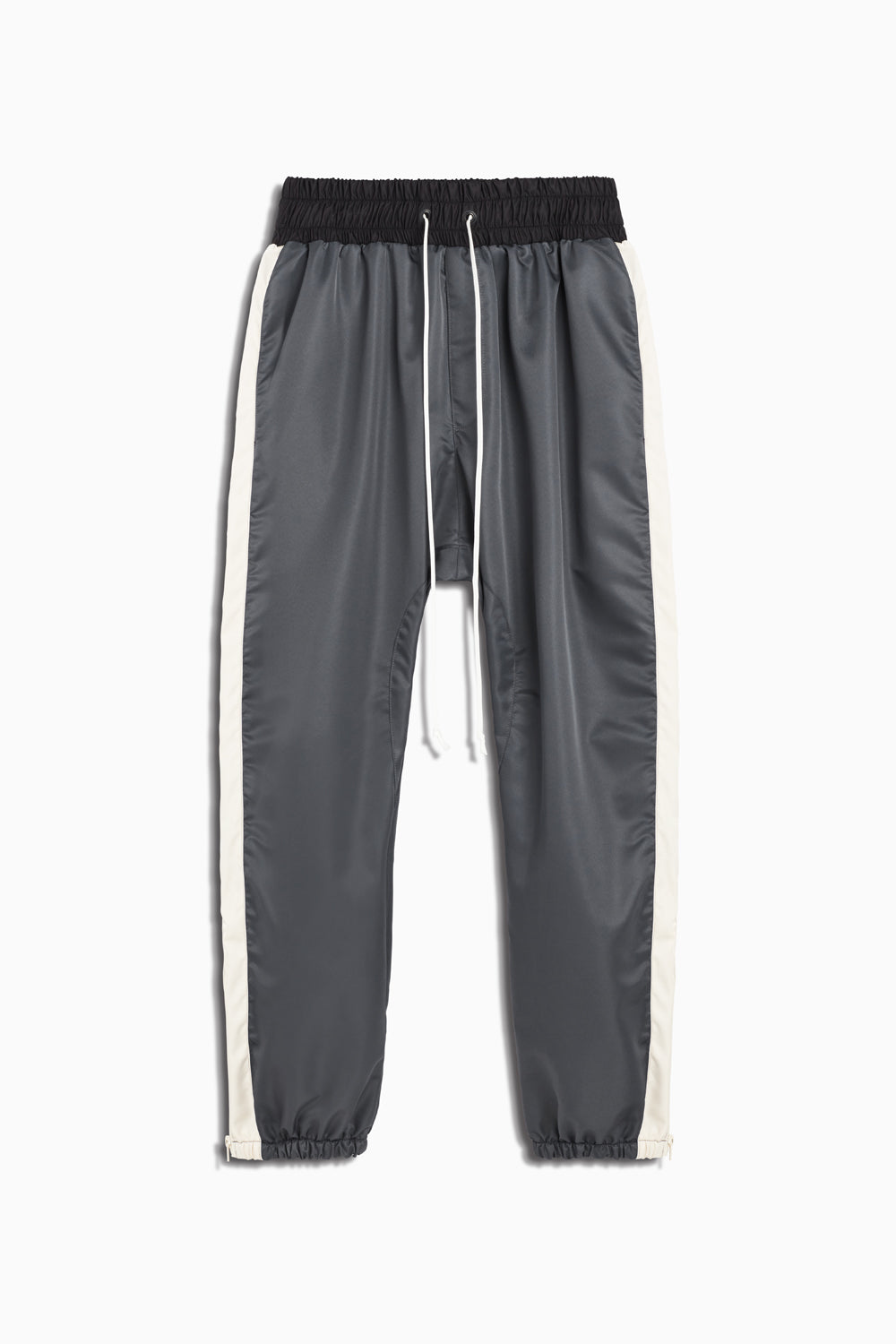 parachute track pant in pewter/ivory by daniel patrick