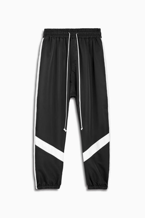parachute track pant ii in black/ivory by daniel patrick