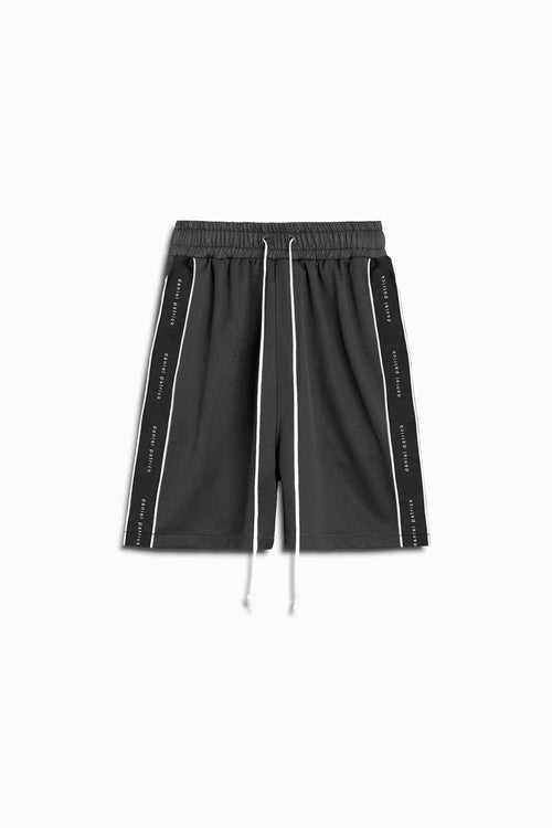 gym short piping in black/ivory by daniel patrick