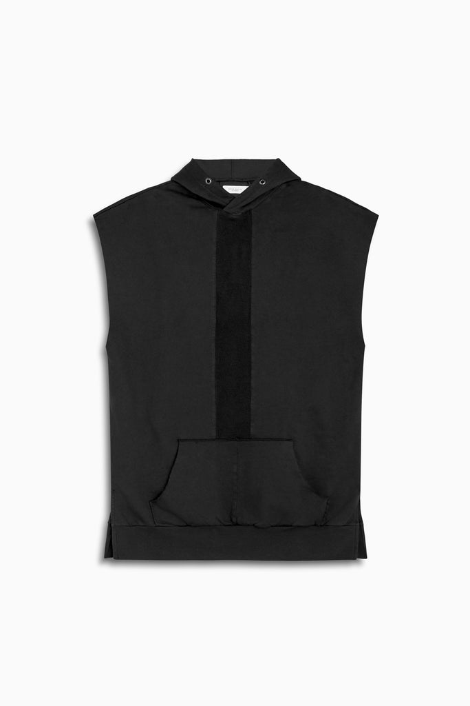 road hood sleeveless in vintage black by daniel patrick