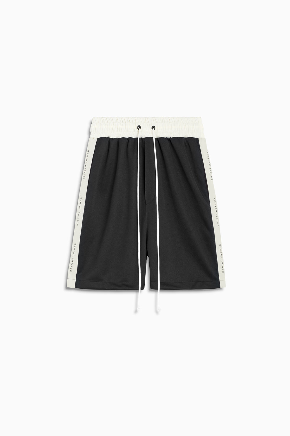 roaming gym short in black/ivory by daniel patrick