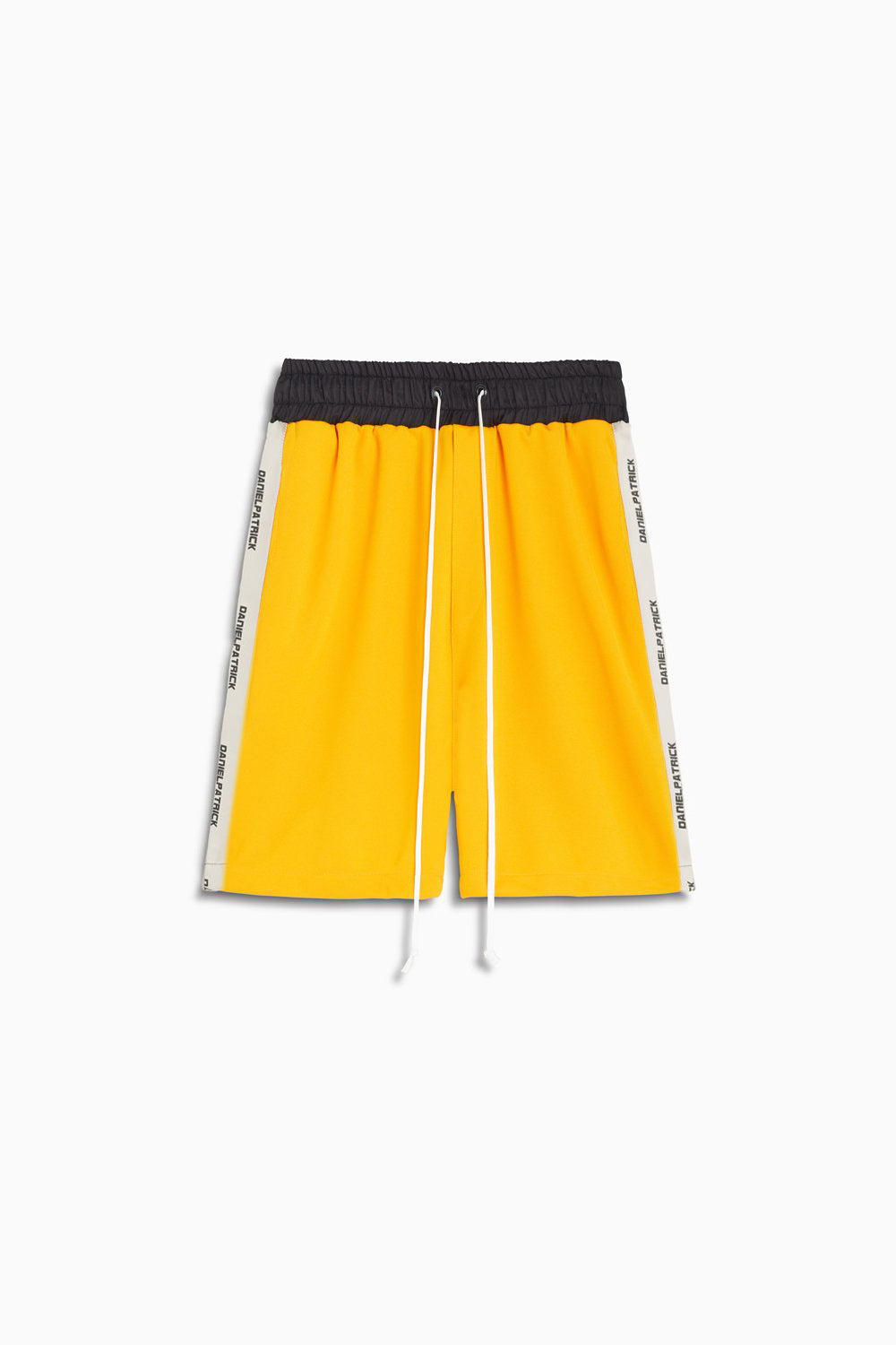 roaming gym short / yellow + ivory
