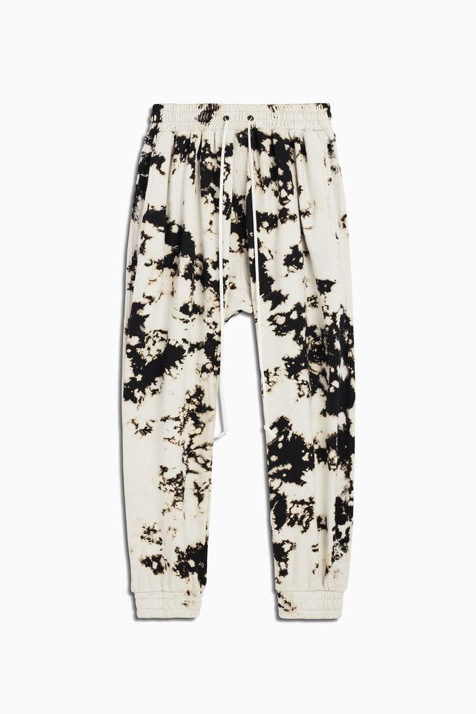 roaming track pant in white acid by daniel patrick