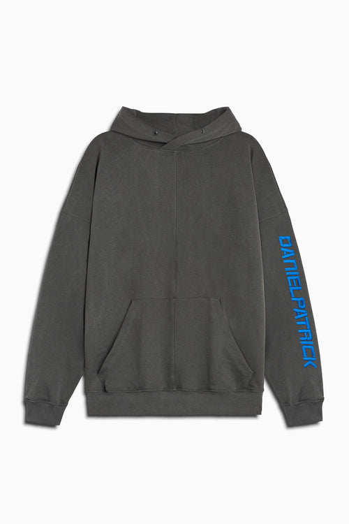 2019 DP hoodie in vintage black/cobalt by daniel patrick