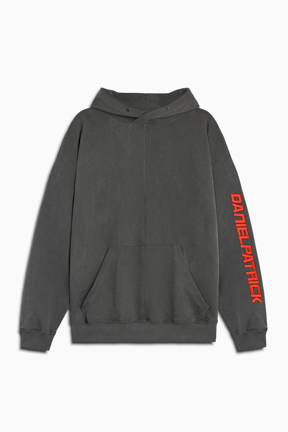 2019 DP hoodie in vintage black/red by daniel patrick