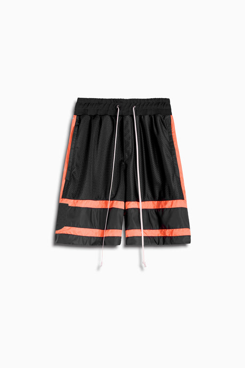 5.5 gym short in black/coral by daniel patrick