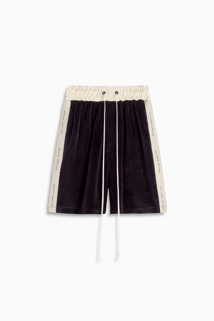 velour roaming gym shorts by daniel patrick