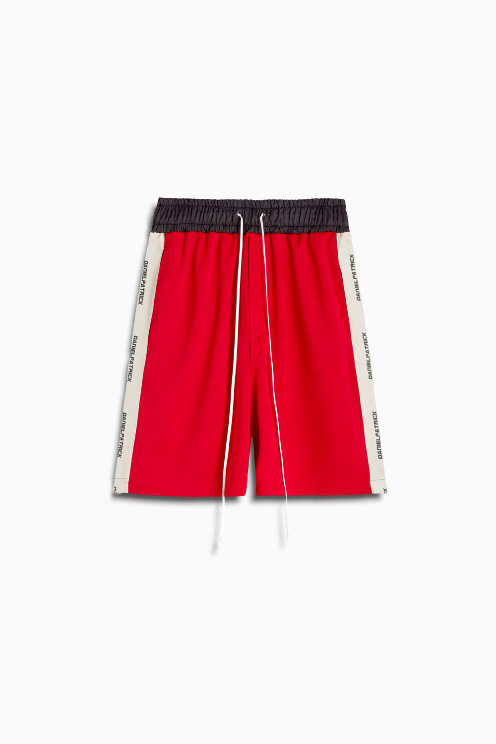 roaming gym short / red + ivory