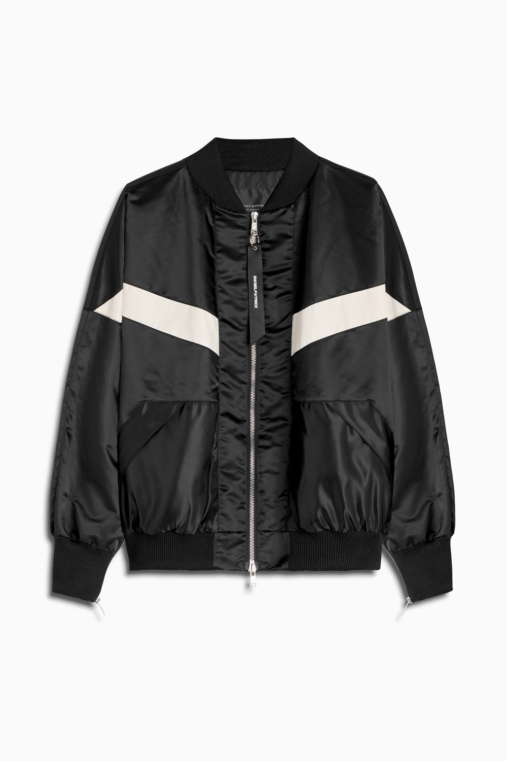 bomber 8 in black/ivory by daniel patrick