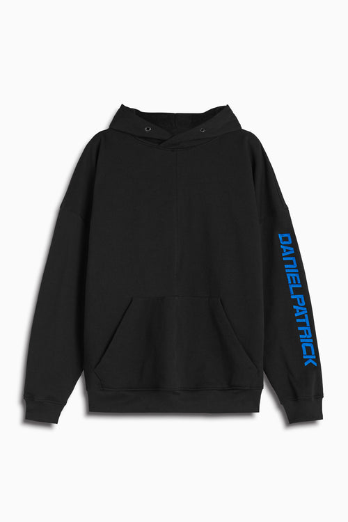 2019 DP hoodie in black/cobalt by daniel patrick