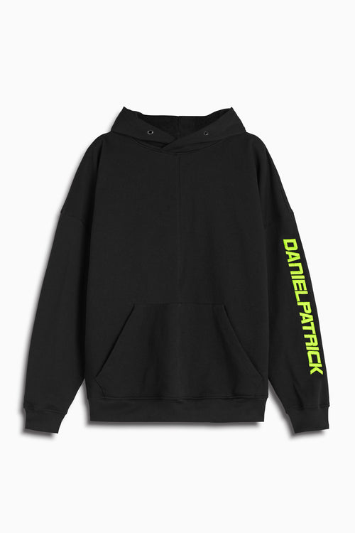2019 DP hoodie in black/lime by daniel patrick