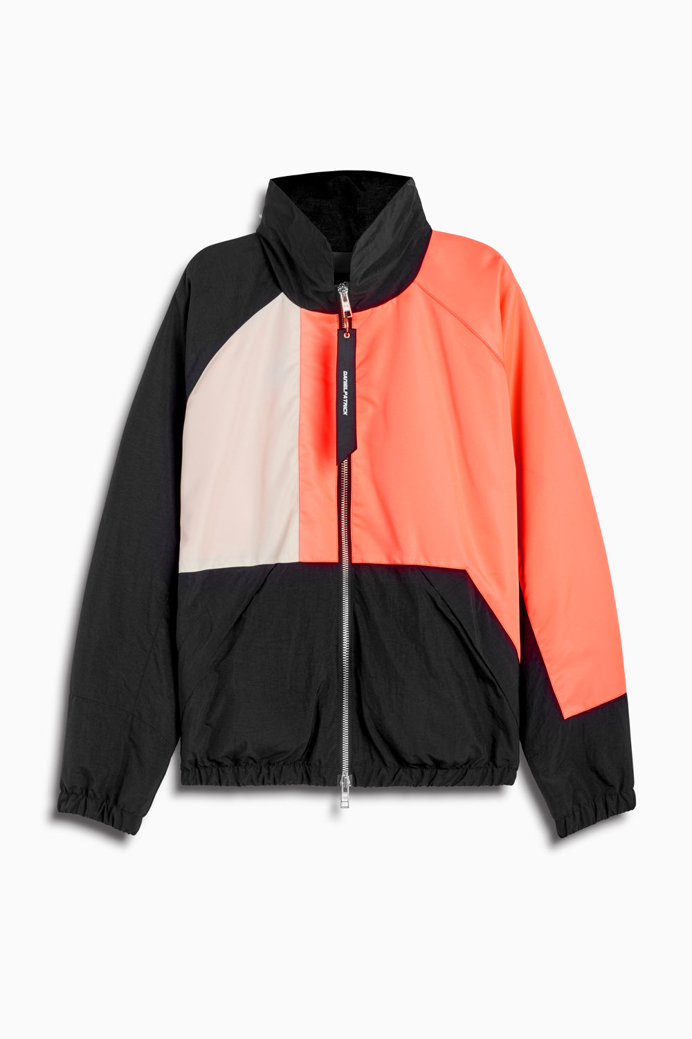 93 jacket in black/coral/ivory by daniel patrick