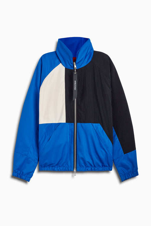 93 jacket in cobalt/black/ivory by daniel patrick