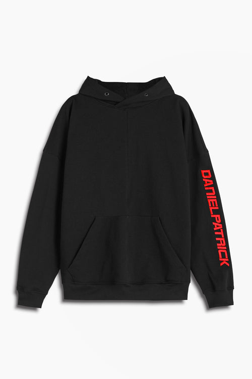 2019 DP hoodie in black/red by daniel patrick