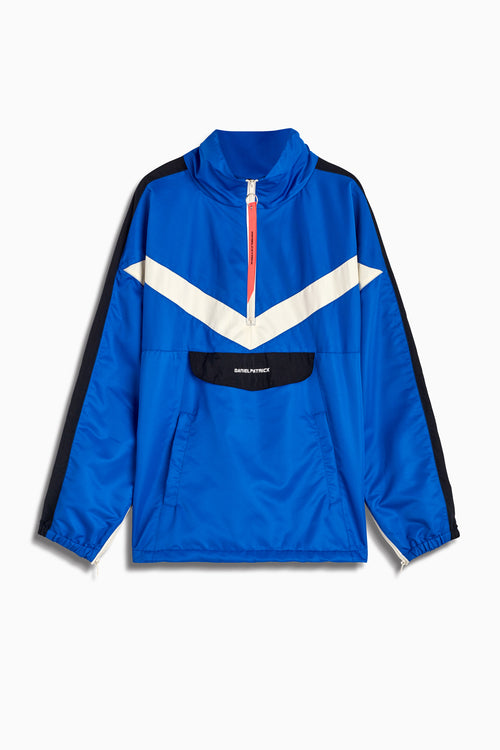 2019 anorak sport pullover in cobalt/black/ivory by daniel patrick