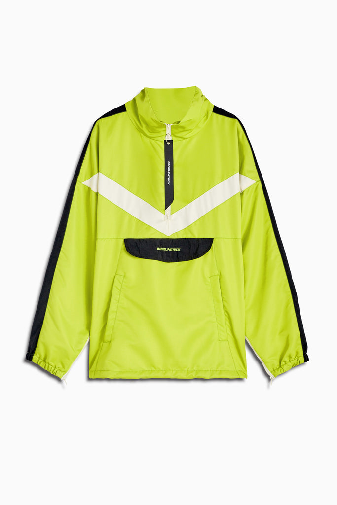 2019 anorak sport pullover in citrus lime/black/ivory by daniel patrick