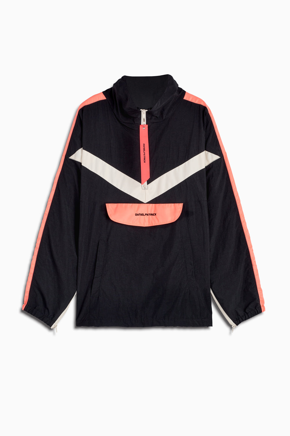 2019 anorak sport in black/coral/ivory by daniel patrick