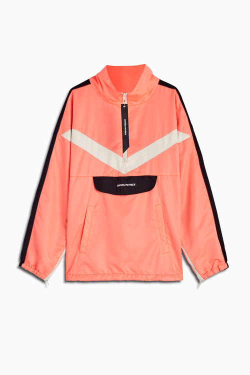 2019 anorak sport pullover in coral/black/ivory by daniel patrick