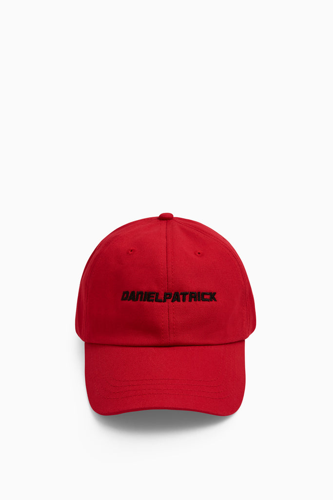 DP sport cap in red/black by daniel patrick