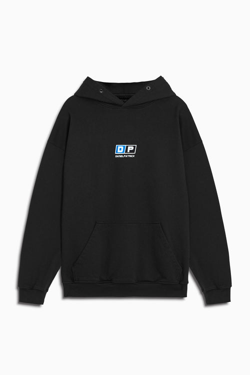 motorsport hoodie in black/cobalt by daniel patrick