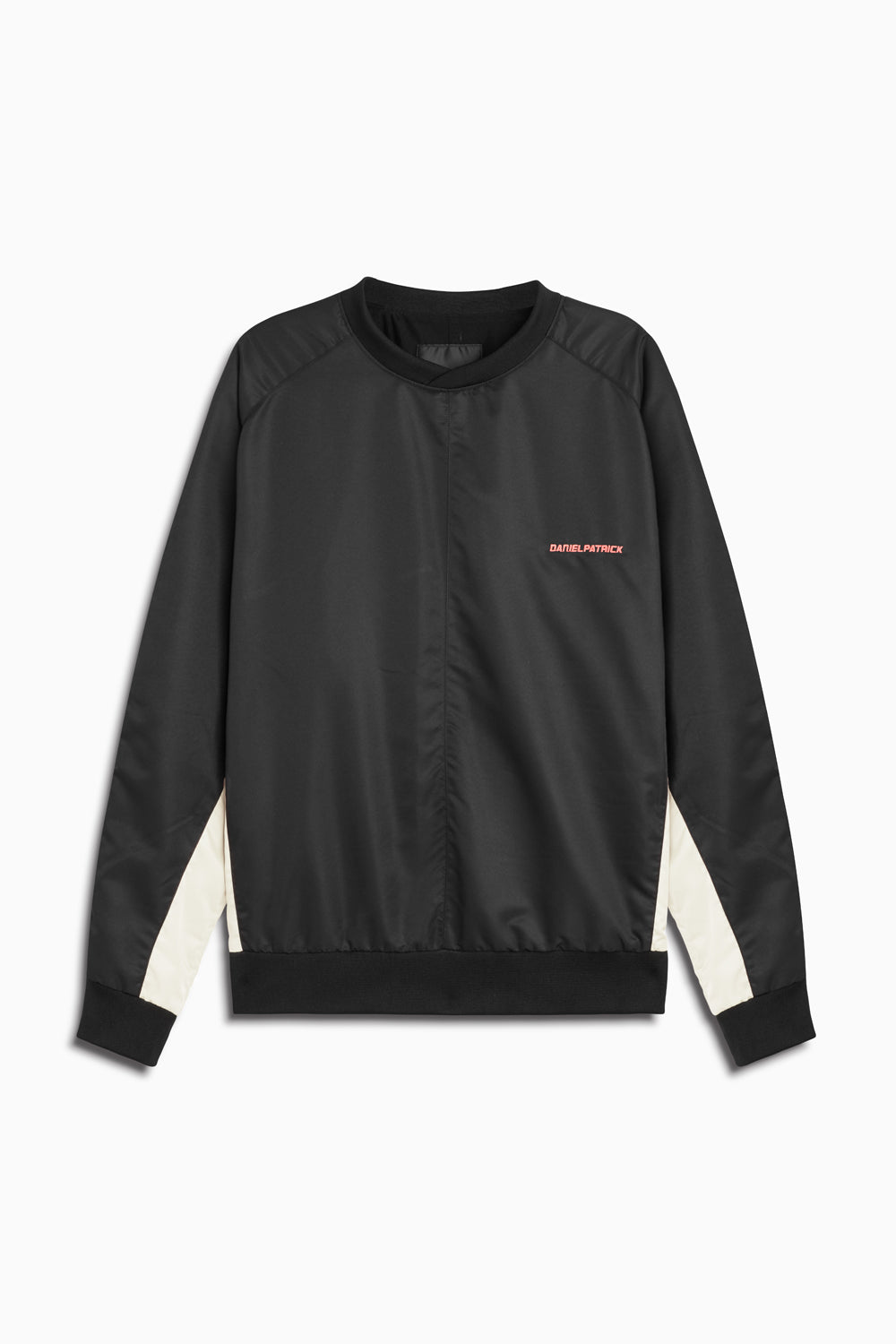 pullover windbreaker 2019 in black/ivory by daniel patrick