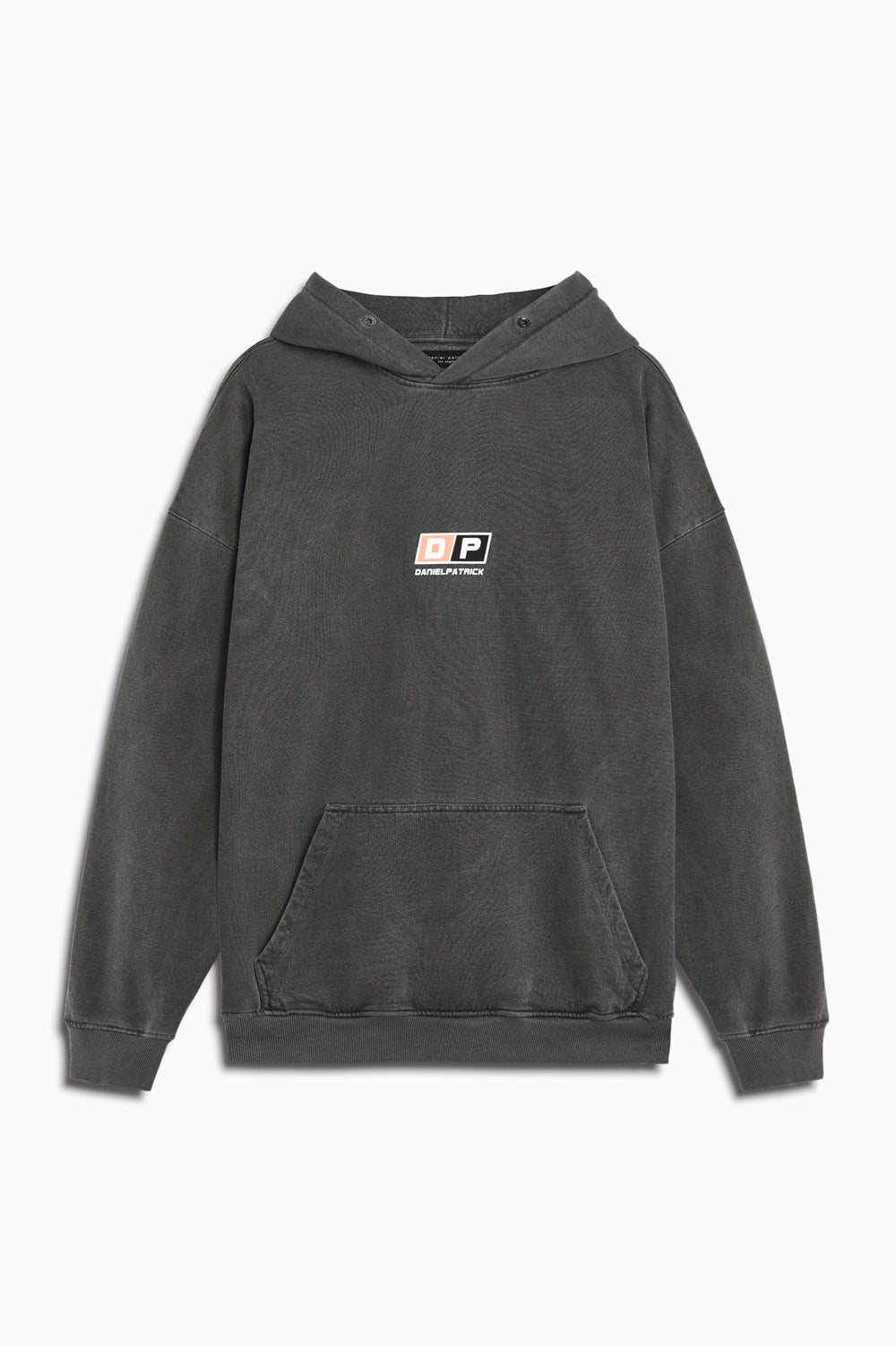 motorsport hoodie in vintage black/coral by daniel patrick