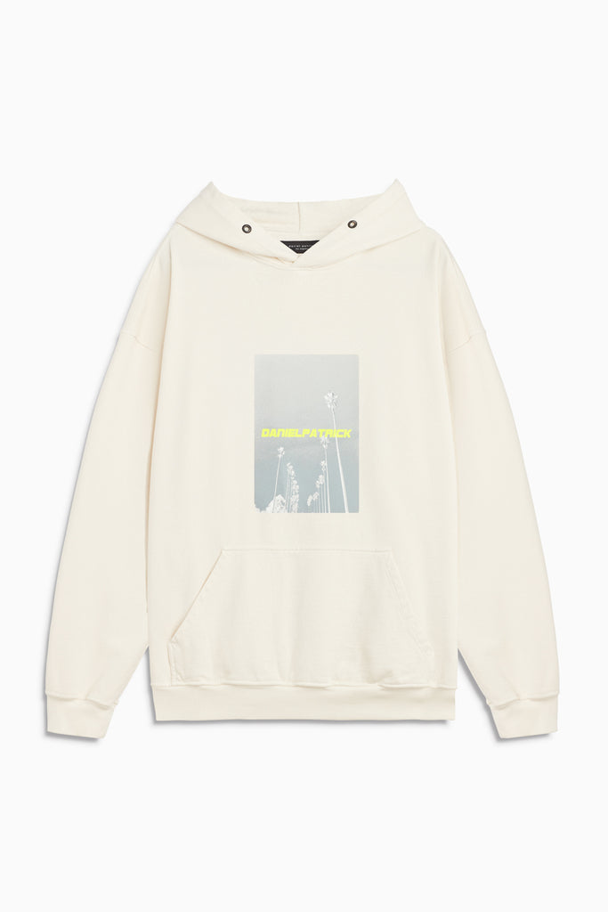 neon palm hoodie in natural/neon yellow by daniel patrick