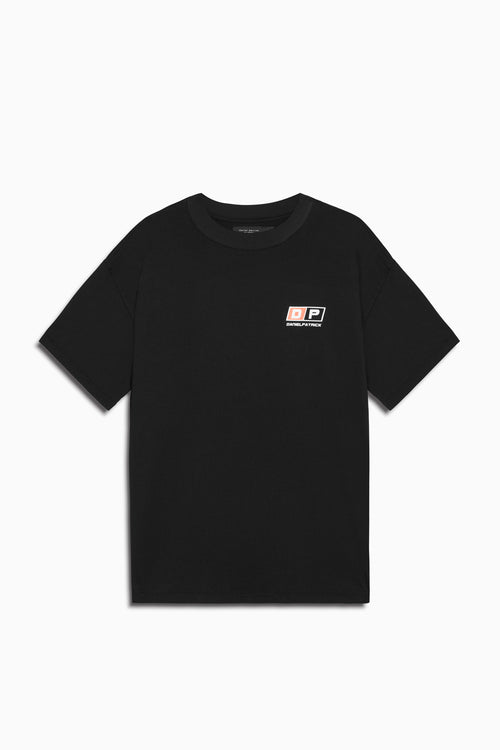 motorsport tee in black/coral by daniel patrick