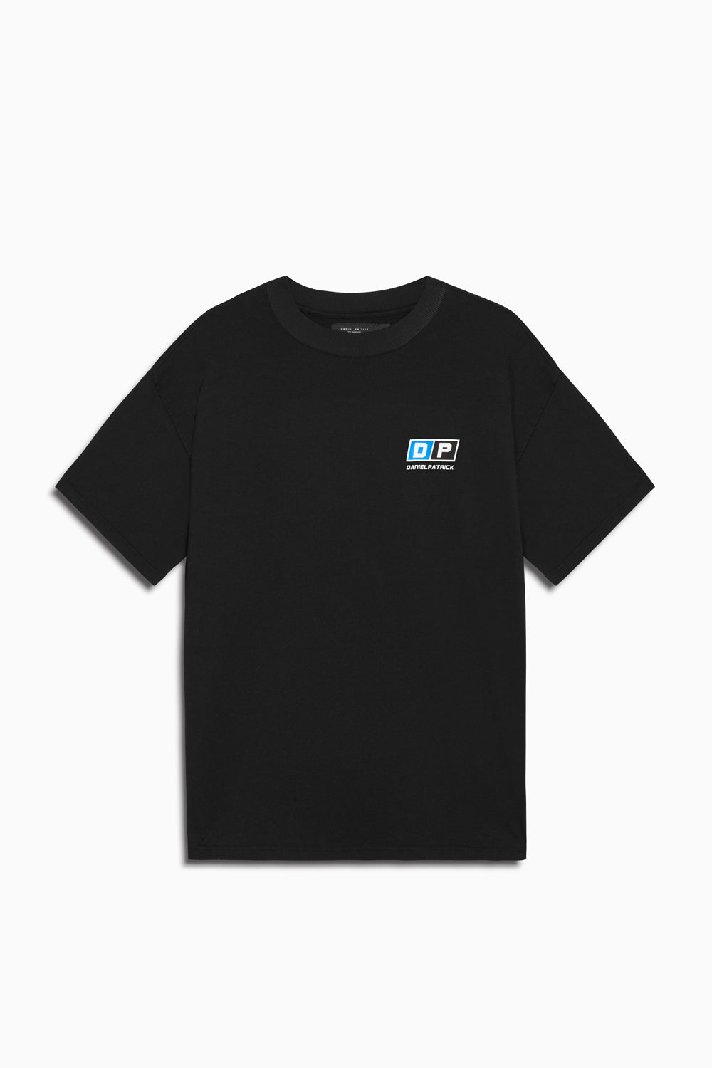 motorsport tee in black/cobalt by daniel patrick
