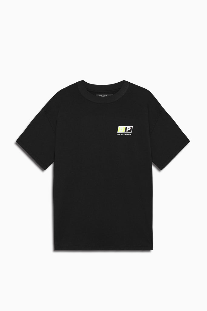 motorsport tee in black/neon yellow by daniel patrick