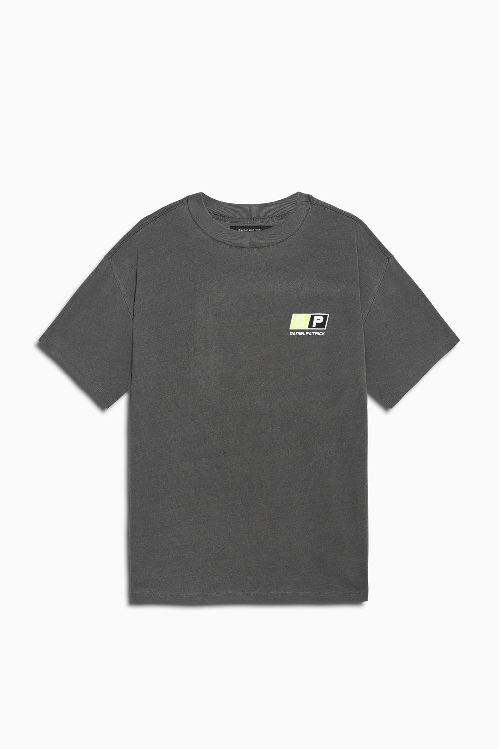 motorsport tee in vintage black/neon yellow by daniel patrick