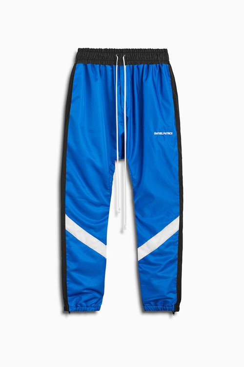 2019 parachute track pant in cobalt/black/ivory by daniel patrick