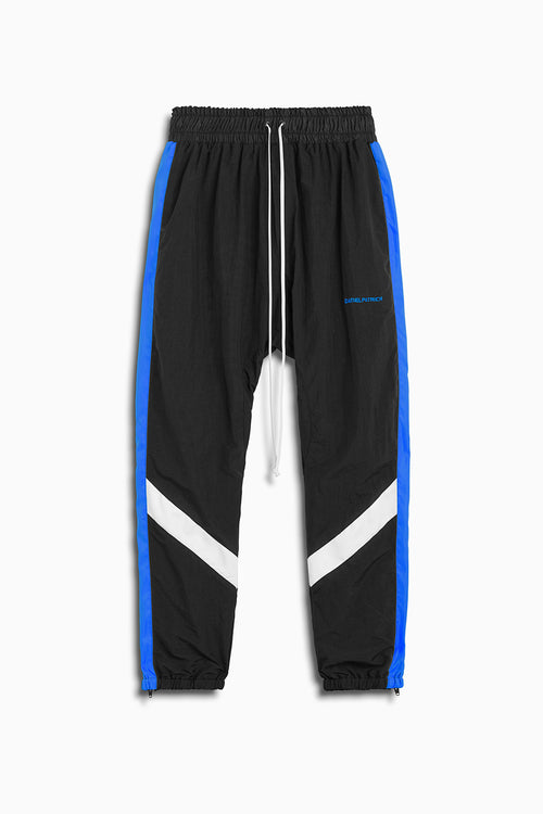 2019 parachute track pant in black/cobalt/ivory by daniel patrick