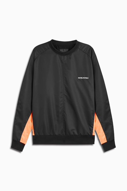 pullover windbreaker 2019 in black/coral by daniel patrick