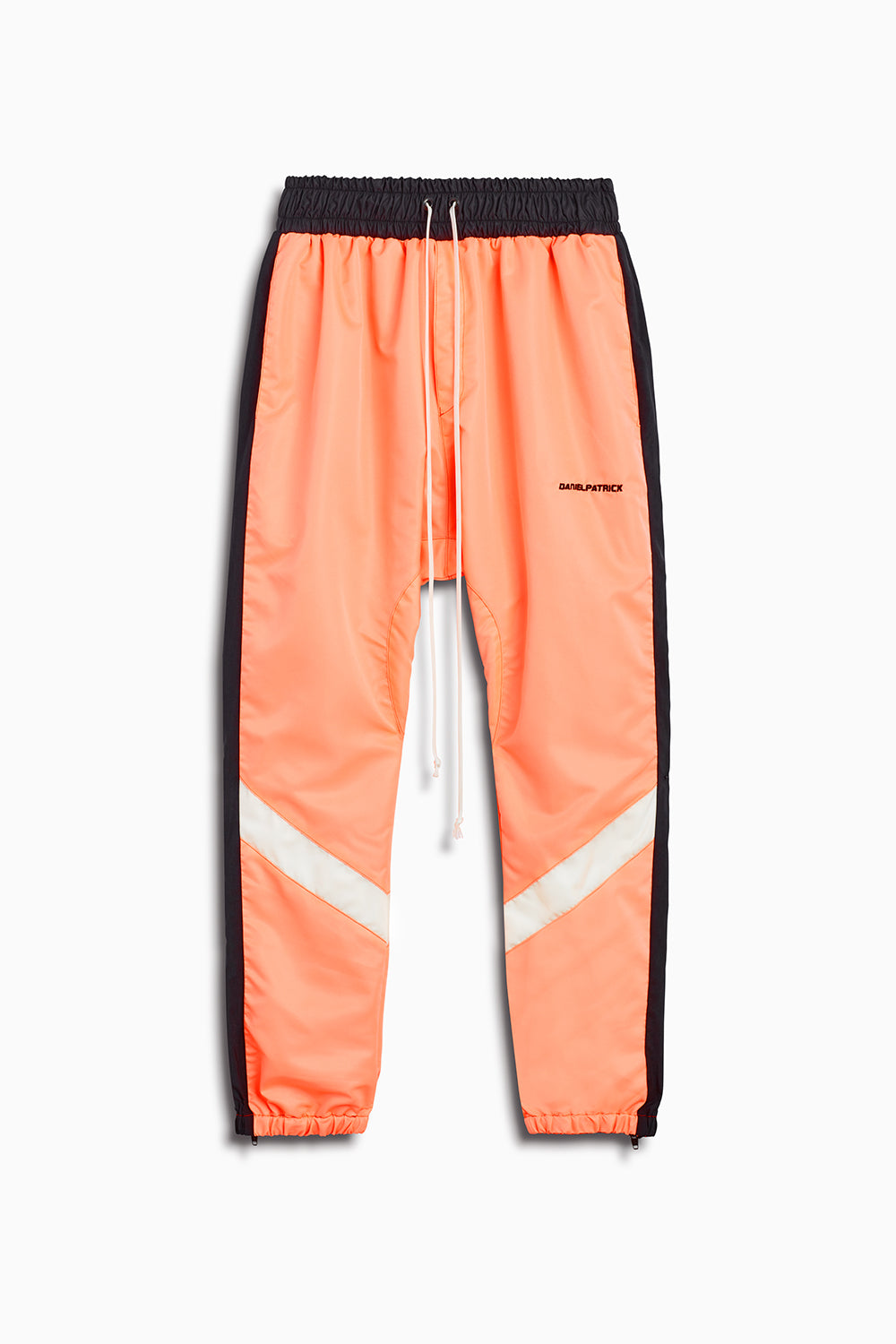 2019 parachute track pant in coral/black/ivory by daniel patrick