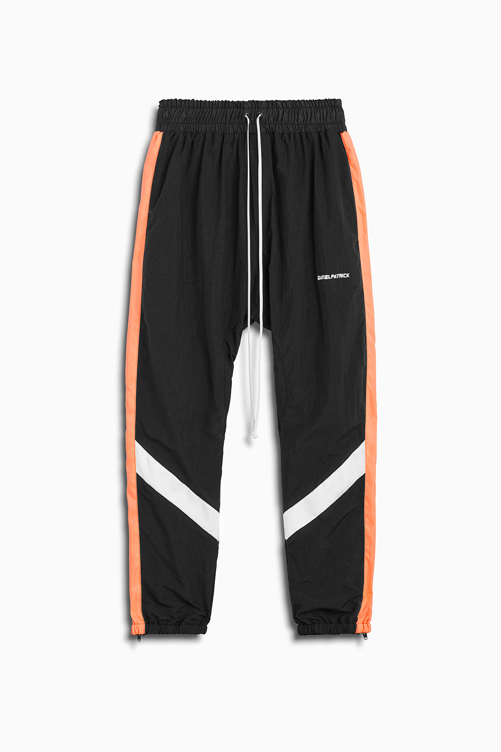 2019 parachute track pant in black/coral/ivory by daniel patrick