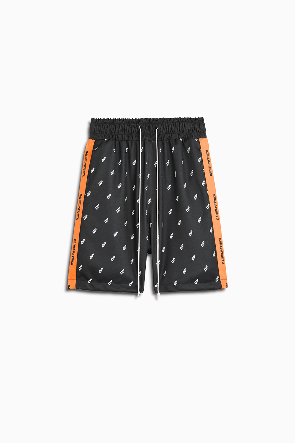 DP gym short in black/neon orange by daniel patrick