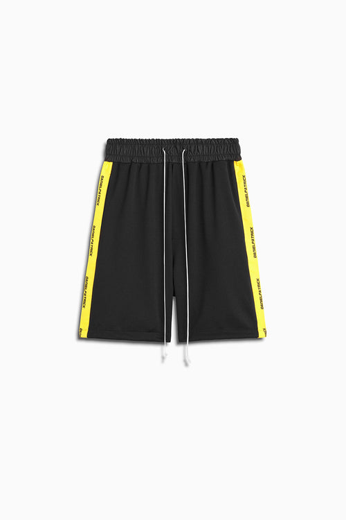 2019 gym short in black/lime by daniel patrick