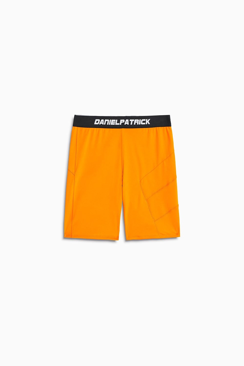 LA bike shorts in neon orange by daniel patrick