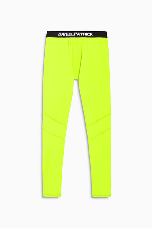 DP sport tights in neon yellow by daniel patrick