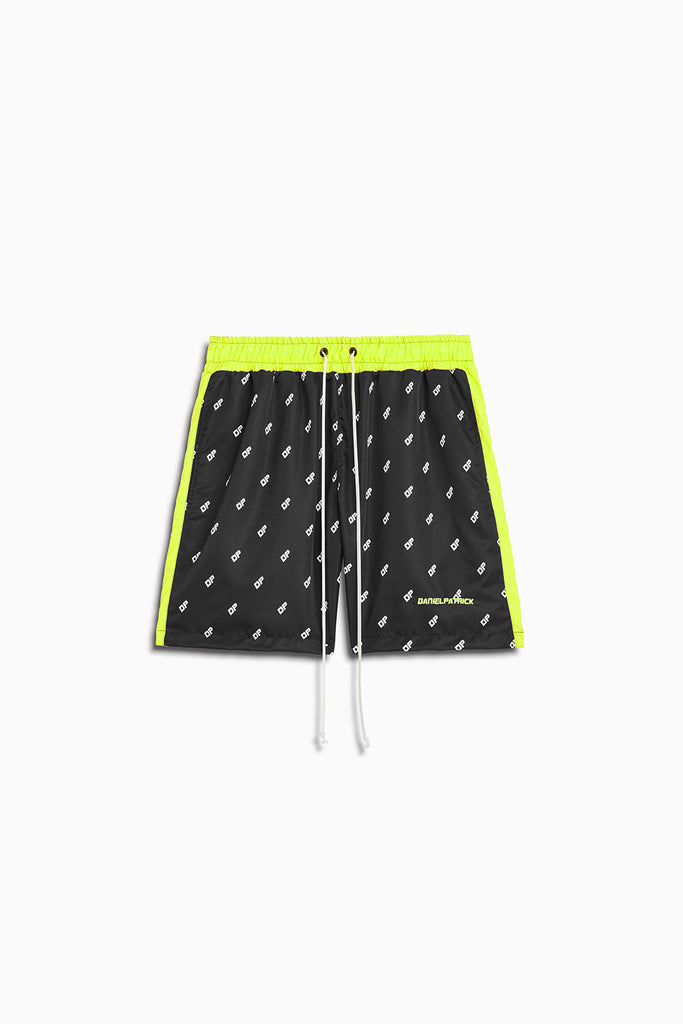 DP venice trunk in black/citrus lime by daniel patrick