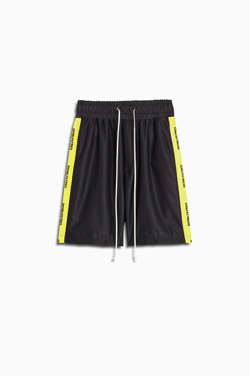 mesh gym short in black/lime by daniel patrick