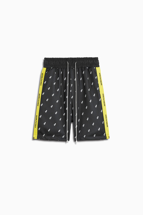 DP gym short in black/citrus lime by daniel patrick