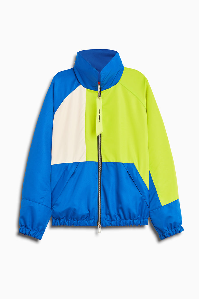 93 jacket in cobalt/citrus lime/ivory by daniel patrick