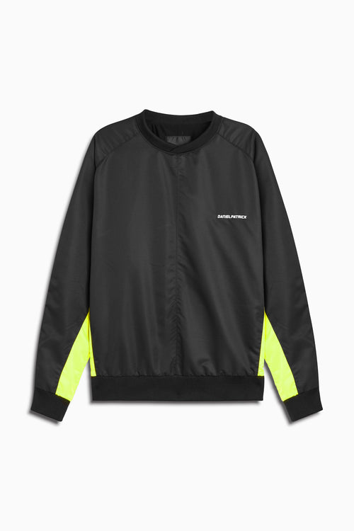 pullover windbreaker 2019 in black/citrus lime by daniel patrick